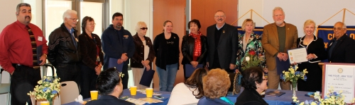 Rotary District 5280 and the Lawndale Rotary recognize Paul Harris Fellows